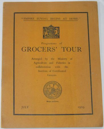 Programme of Grocers' Tour - July 1929
